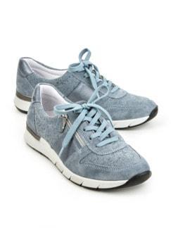 Reißverschluss-Sneaker Komfortplus Hellblau Detail 1
