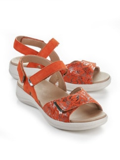 Hallux-Sandale Weichtritt Orange Detail 1