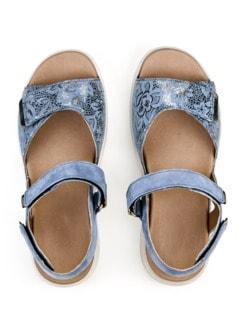 Hallux-Sandale Weichtritt Jeansblau Detail 3