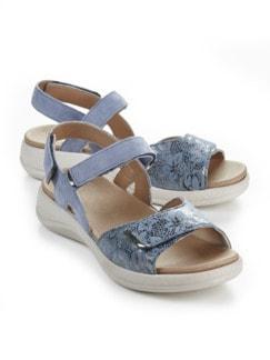 Hallux-Sandale Weichtritt Jeansblau Detail 1