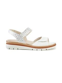 Hallux-Sandale De Luxe Weiß/Silber gem Detail 2
