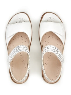Hallux-Sandale De Luxe Weiß/Silber gem Detail 3