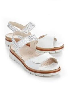 Hallux-Sandale De Luxe Weiß/Silber gem Detail 1