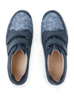 Hallux-Klettslipper Extraweit Jeansblau Detail 4