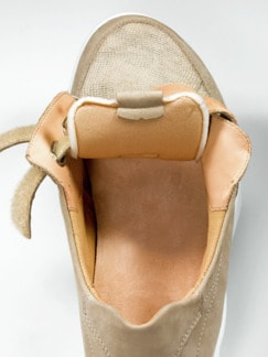 Ganter-Prophylaxe-Klettslipper Beige Detail 3