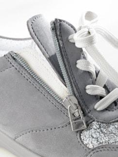 Hallux-Reißverschluss-Schnürer Grau Detail 4