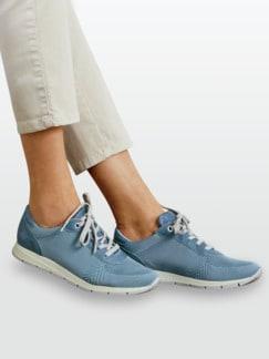 Hallux-Sneaker Leichtgewicht Jeansblau Detail 3