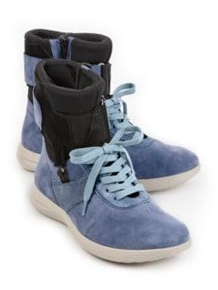 Avena-Sneaker Umknickschutz Jeansblau Detail 1