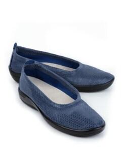 Hallux-Soft-Slipper Extraweit Jeansblau Detail 1