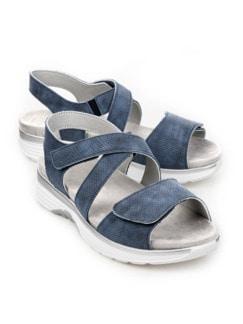 Bequem-Sandale Soft-Rollsohle Jeansblau Detail 1