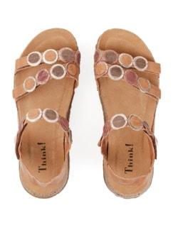 Think-Komfort-Sandale Braun Detail 4
