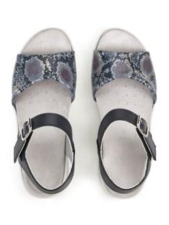 Hallux-Sandale Hüftschwung Blau Detail 3