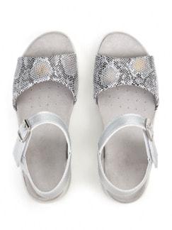 Hallux-Sandale Hüftschwung Silber Detail 3