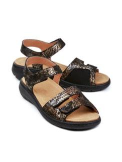 Hallux-Sandale Soft Schwarz/Bronze Detail 1