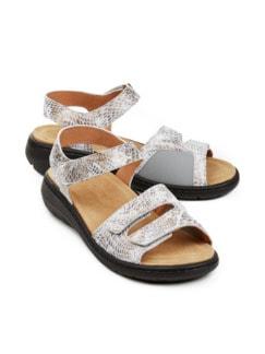 Hallux-Sandale Soft Weiß/Gold Detail 1