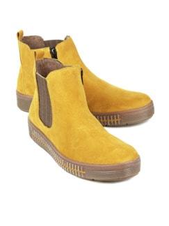 Chelsea-Boots-Rutschsicher Gelb Detail 1