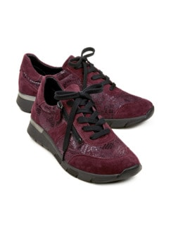 Hallux-Reißverschluss-Sneaker Bordeaux Detail 1