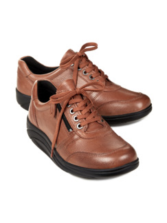 Rollsohlen-Sneaker Thermoleicht Cognac Detail 1