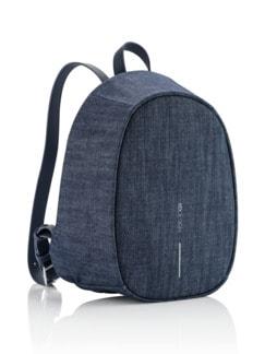 Anti-Diebstahl-Rucksack Jeansblau Detail 2
