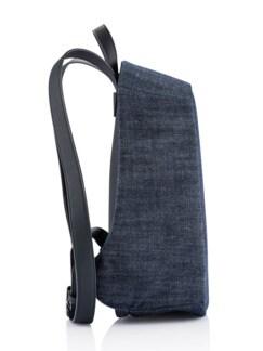 Anti-Diebstahl-Rucksack Jeansblau Detail 3