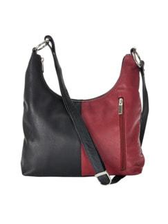 Handtasche Raumwunder Schwarz/Rot Detail 1
