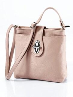 Leder-Handtasche Rundum Sorglos Altrosa Detail 1