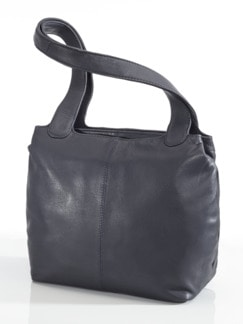 Leder-Shopper Easy Going Blau Detail 1