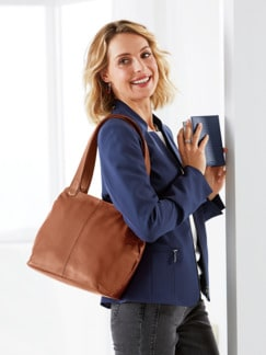 Leder-Shopper Easy Going Cognac Detail 2