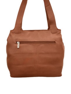 Leder-Shopper Easy Going Cognac Detail 4