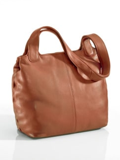 Leder-Shopper Easy Going Cognac Detail 1