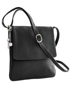 Leder-Handtasche Every Day Schwarz Detail 1