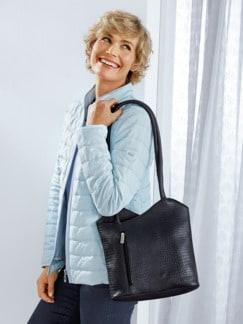 Leder-Rucksack-Tasche Blau Detail 2