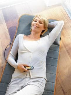 Wellness-Massagematte Grau/Orange Detail 1