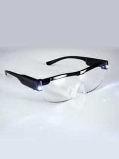 LED-Vergrößerungsbrille Schwarz Detail 1