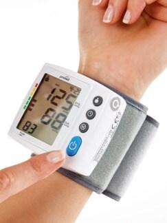 Handgelenk-Blutdruckmessgerät Weiß Detail 2