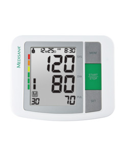Oberarm-Blutdruckmessgerät Weiß Detail 3