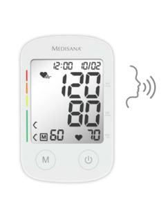 Blutdruckmessgerät m. Sprachausgabe Weiß Detail 2