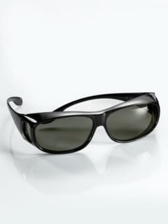 Überzieh-Sonnenbrille Unisex Schwarz Detail 1