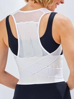 Haltungstrainer mit Stützgürtel Weiß Detail 2