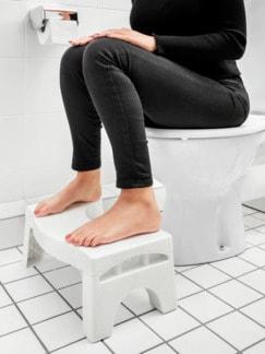 Toiletten-Fußhocker Faltbar Weiß Detail 2