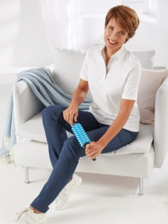 Faszien-Massageroller Blau/Schwarz Detail 2