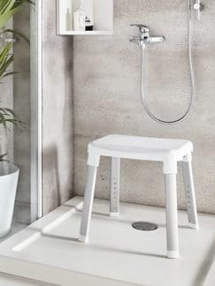Dusch- und Badhocker Weiß Detail 2