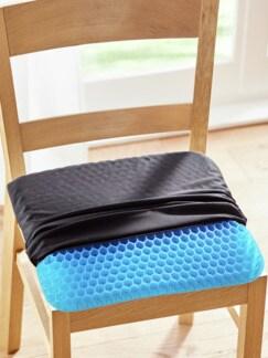 Gel-Sitzkissen Relax Schwarz Detail 1