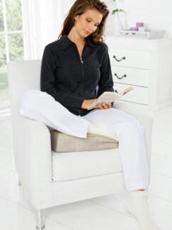 Schurwoll-Komfort-Sitzkissen Natur Detail 2