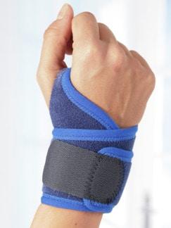 Neopren-Handgelenkbandage Blau Detail 1