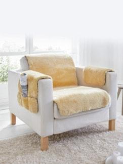 Lammfell-Sesselauflage Natur Detail 1