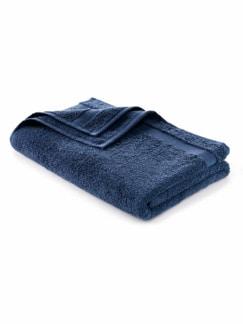 Duschtuch Bio-Baumwolle Blau Detail 1