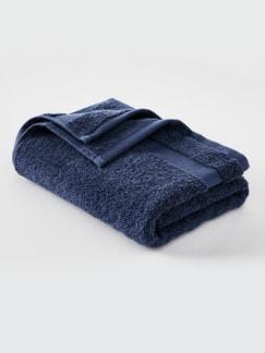 Handtuch Bio-Baumwolle Blau Detail 1