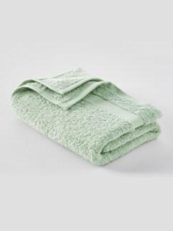 Handtuch Bio-Baumwolle Jadegrün Detail 1
