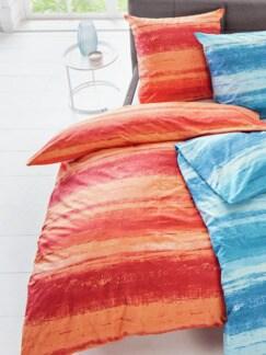 Renforce-Bettwäsche Istria Orange Detail 1